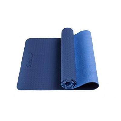 趣味 ヨガ マット 長い Bestshared Non-Slip PVC-Free 72-Inch Thick 6mm Light Weight 2.4 lbs. Two Layer TPE Yoga Mat - Navy Blue 正規輸入品