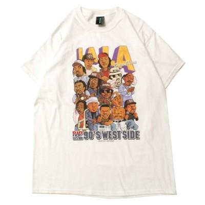 """ラップ アタック RAP ATTACK """"LA LA"""" S/S Tシャツ WHITE / ホワイト 半袖 Tシャツ"""