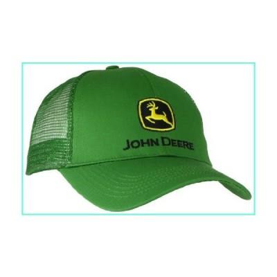 John Deere Embroidered Logo Mesh Back Baseball Hat - One-Size - Men's - JD Green並行輸入品