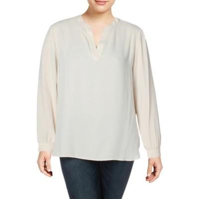 レディース 衣類 トップス Anne Klein Womens Split Neck Officewear Blouse ブラウス&シャツ