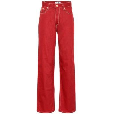 エイティーズ Eytys レディース ジーンズ・デニム ボトムス・パンツ Benz Twill high-rise wide-leg jeans Rosso