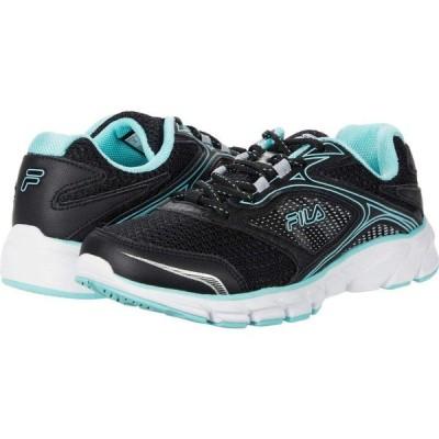 フィラ Fila レディース ランニング・ウォーキング シューズ・靴 Memory Stir Up Black/Aruba Blue/Metallic Silver