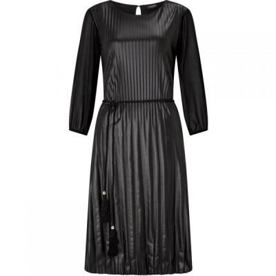 ジュームズ レイクランド James Lakeland レディース パーティードレス ワンピース・ドレス Pleated Pu Dress Black
