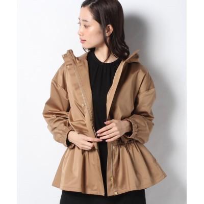【レリアン】 シャーリングフードジャケット レディース ブラウン系 11 Leilian