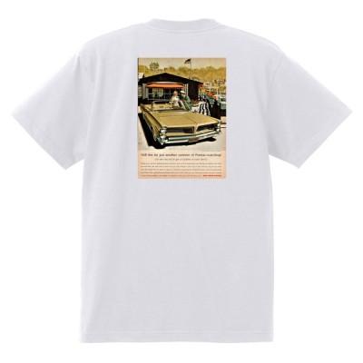 アドバタイジング ポンティアック 407 白 Tシャツ 黒地へ変更可能 1963 グランプリ テンペスト ボンネビル カタリナ アメ車