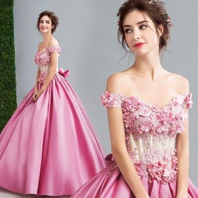 ロングドレス・ドレス・ウェディングドレス・結婚式・二次会ドレス・花嫁ドレス・パーティードレス・Aラインドレス・二次会・花嫁・プリンセスライン