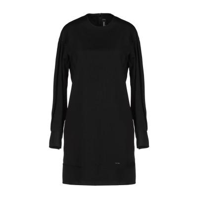 ディースクエアード DSQUARED2 ミニワンピース&ドレス ブラック 38 コットン 100% ミニワンピース&ドレス