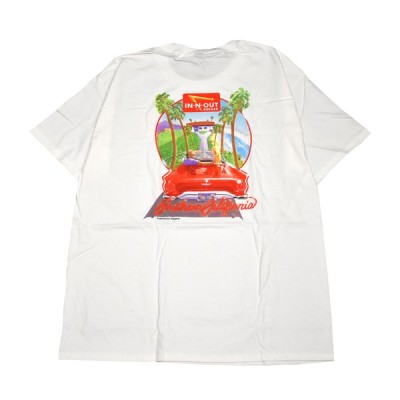 IN-N-OUT BURGER インアンドアウトバーガー Tシャツ ホワイト 1987 T-SHIRT innout-tee-1987