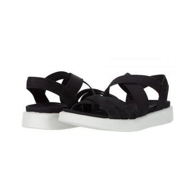 ECCO エコー レディース 女性用 シューズ 靴 サンダル Flowt Elastic Sandal - Black Cow Nubuck