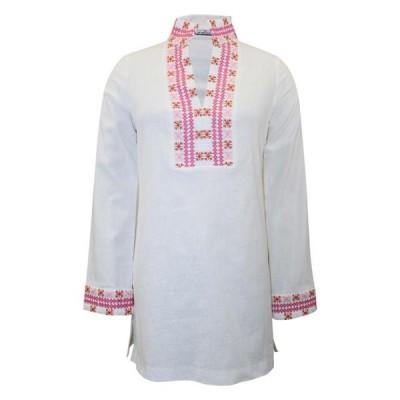 レディース 衣類 トップス CK Bradley Womens Embroidered Tiki Tunic ブラウス&シャツ