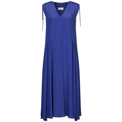 RAME 7分丈ワンピース・ドレス ダークブルー 2 アセテート 87% / シルク 13% 7分丈ワンピース・ドレス