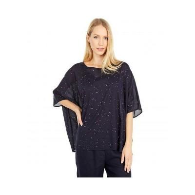 Eileen Fisher アイリーンフィッシャー レディース 女性用 ファッション ブラウス Round Neck Short Sleeve Top - Ink