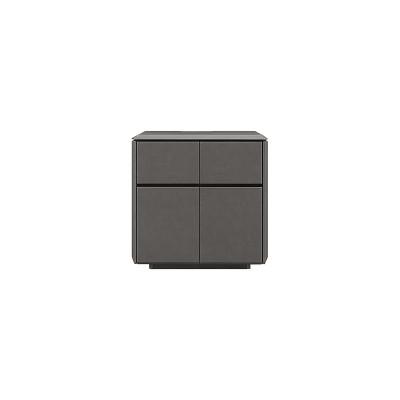 [幅80/高さ80] サイドボード リビングボード 完成品 エンボス加工のセラミック調シート採用 BC SIDE