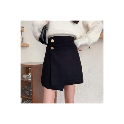 【送料無料】羊毛の ブラックスカート スカート 秋冬 女 年 気質 ハイウエスト 不 | 364331_A64067-8528577