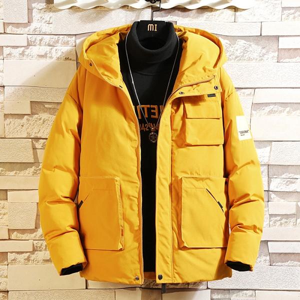 時尚夾克外套加絨 百搭加厚男生外套 男士外套厚款 日系韓版外套羽絨外套 迷彩風衣冬季潮流棉服