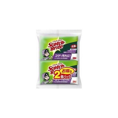 【T 2個パック♪】 3M スコッチブライト 抗菌ウレタンスポンジ たわし(2個入) S-21KS 2PM