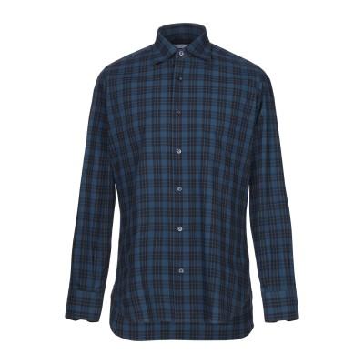 GIAMPAOLO シャツ ブルー 39 コットン 100% シャツ