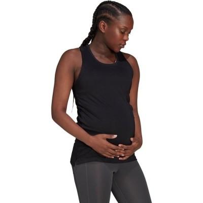 アディダス カットソー トップス レディース adidas Women's Maternity Designed to Move Tank Top Black/White 01