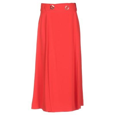 DEREK LAM 10 CROSBY 7分丈スカート オレンジ 0 トリアセテート 75% / ポリエステル 25% 7分丈スカート