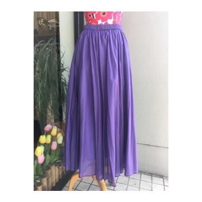 ディニテコリエ/Dignite Collier  フレアロングスカート 804500-81パープル