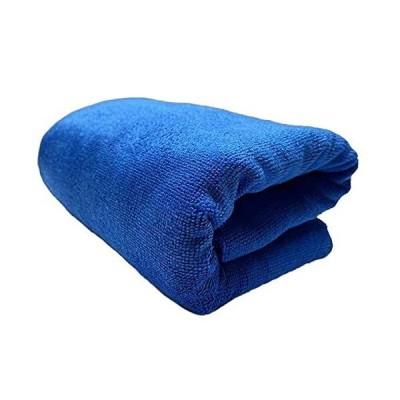 TARO WORKS 洗車タオル 大判 超吸水クロス 車 拭き上げ 速乾 200cmx60cm 青
