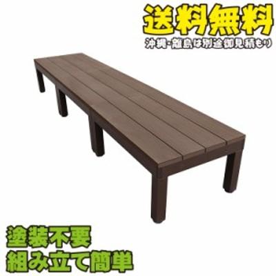 アイウッドデッキPLUS60系 オープンタイプセット ダークブラウン■ [3点セット]| アイガーデンオリジナル 人工木 木製デッキ 樹脂