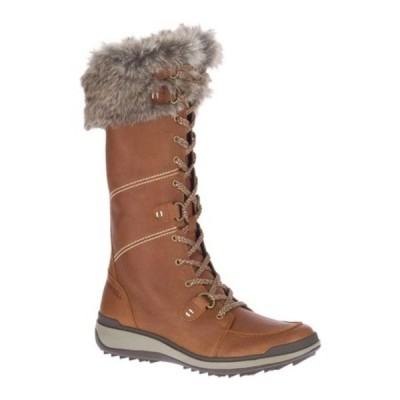 メレル ブーツ&レインブーツ シューズ レディース Snowcreek Tall Polar Waterproof Boot (Women's) Oak Waterproof Full Grain Leather