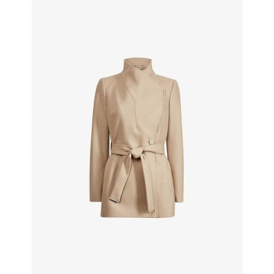 テッドベーカー TED BAKER レディース コート ラップコート アウター Rytaa wrap wool-blend coat CAMEL