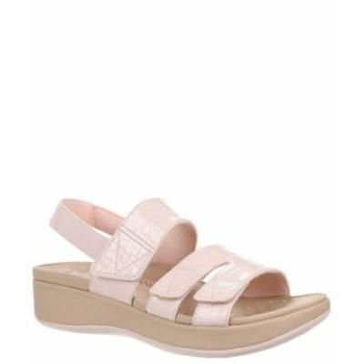 バイオニック レディース サンダル シューズ Roma Croco Print Platform Wedge Sandals Pink