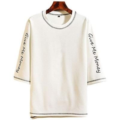 tシャツ メンズ 半袖 カットソー 七分袖 軽い 柔らかい 無地 おしゃれ アクティブシャツ インナーシャツ(s2103102284)