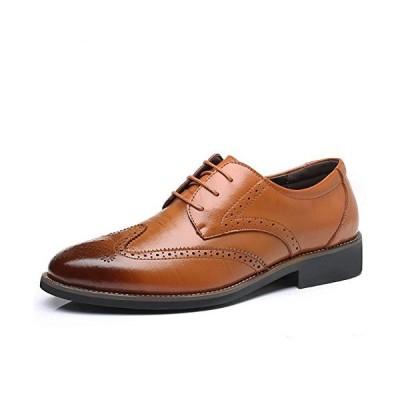 [イフユ] ビジネスシューズ メンズ 革靴 紳士靴 ウイングチップ ビッグサイズ有り ストレートチップ ドレスシューズ 通気性 空気循環 消臭 衝撃吸