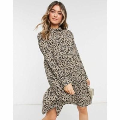 ジェイディーワイ JDY レディース ワンピース シャツワンピース ワンピース・ドレス Jdy Shirt Dress In Animal Print アニマルプリント
