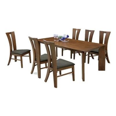 ダイニングテーブル ダイニングセット ダイニングテーブルセット 6人掛け 7点セット 木製 北欧風 モダン 無垢材