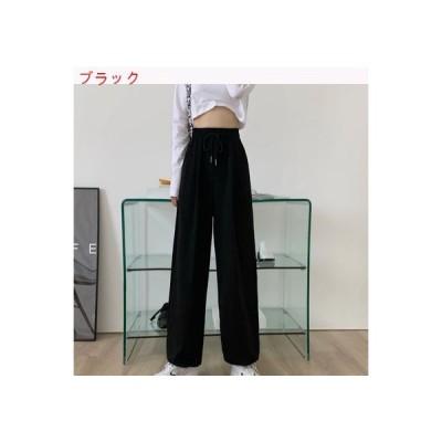 【送料無料】着やせ ハイウエスト カジュアルパンツ 女 夏 薄いスタイル 韓国風 ス | 346770_A63392-2508718