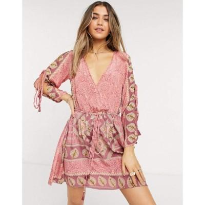 ラガ Raga レディース ワンピース スリットワンピース ワンピース・ドレス Love Maze Slit Sleeve Dress In Pink ピンク