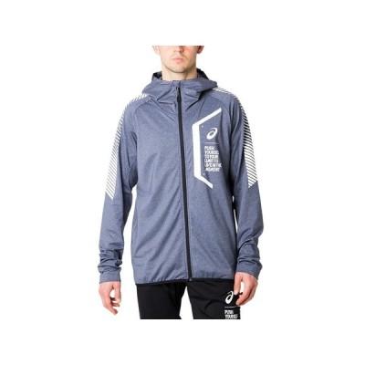 (アシックス)LIMO裏起毛ストレッチニットFZフーディー トレーニングウエア ウォームアップシャツ 2031A878-400