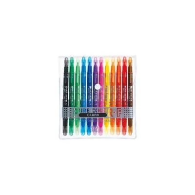 三菱鉛筆 ピュアカラーF 水性サインペン 中字丸芯・極細 12色セット(PW-101T PC 12C)【水性顔料マーカー マーキングペン】