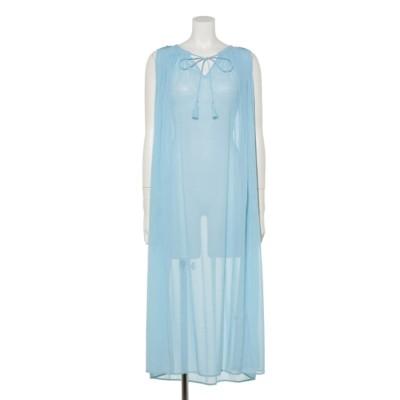 ビーズ刺繍ワンピース (Light blue)