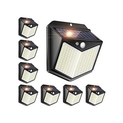 8 Pack Solar Fence Lights,140 LED Solar Security Lights Motion Sensor Light