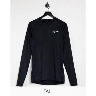 ナイキ Nike Training メンズ フィットネス・トレーニング ベースレイヤー トップス Nike Pro Training Tall Long Sleeve Baselayer Top In Black ブラック