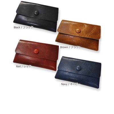 highstyle 牛革レザー カードケース メンズ レディース 日本製 本革 二層構造 カードケース名刺入れ (ネイビー)