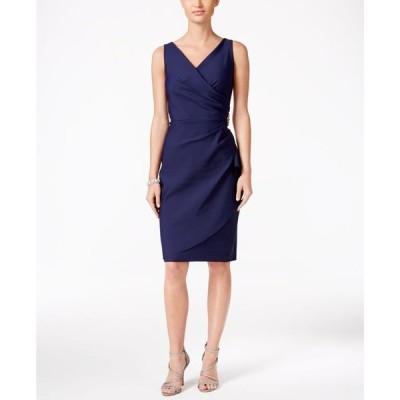 アレックスイブニングス レディース ワンピース トップス Compression Embellished Ruched Sheath Dress