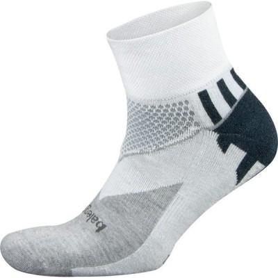 バレガ 靴下 アンダーウェア メンズ Balega Enduro V-Tech Quarter Running Socks White