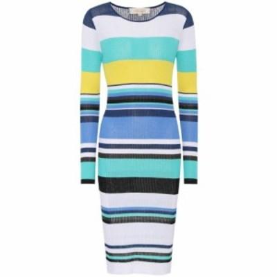 ダイアン フォン ファステンバーグ Diane von Furstenberg レディース ワンピース ワンピース・ドレス Striped rib-knit midi dress Hydr