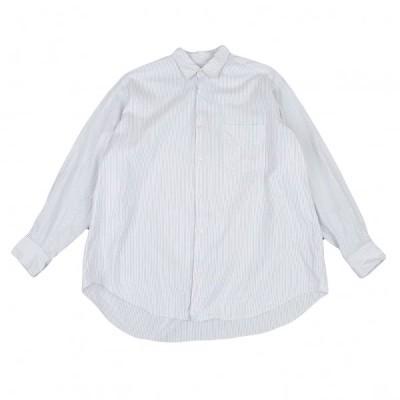 コムデギャルソン オムCOMME des GARCONS HOMME コットンストライプシャツ 白グレーM位 【メンズ】