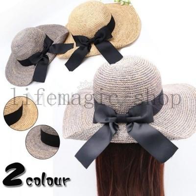 2020夏新作麦わら帽子ビーチハットレディース日除けキャップ帽子ハット女性カジュアルお洒落ファッション通気性良好