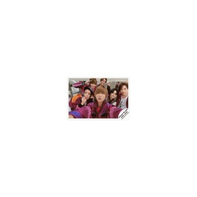 中古生写真(ジャニーズ) ジャニーズJr./集合(6人)/横型・上半身・衣装白・紫・センター山本・原フード被り・松倉左手ピース/