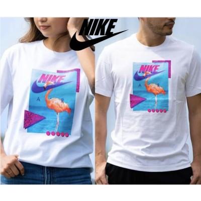 NIKE ナイキ 半袖Tシャツ フラミンゴ プリント ユニセックス メンズ レディース クルーネック ホワイト