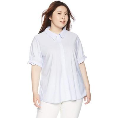 [セシール] カットソーシャツ(半袖)(UVカット・抗菌防臭・吸汗速乾)■グラマー用サイズ有(胸のサイズで選べる)■ MW-2849 レディース サッ