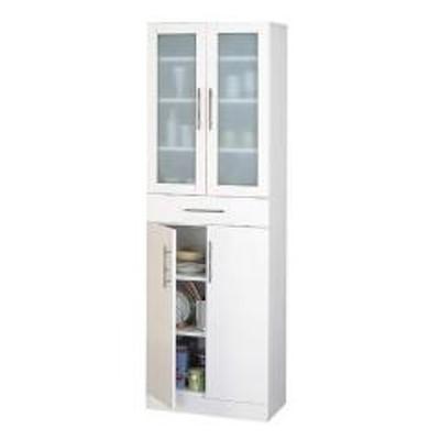 食器棚 カトレア 幅60×高さ180cm( キッチン収納 カップボード  しょっきだな )